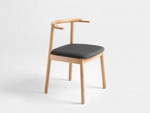 Scaun maro din lemn si poliester Kubrik Custom Form