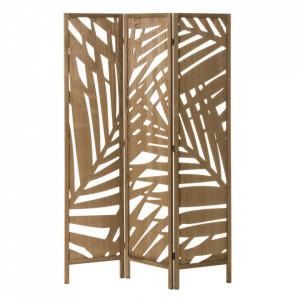 Separator camera maro din lemn si MDF 170 cm Paulonia Leaves Unimasa