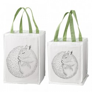 Set 2 cosuri albe din bumbac Squirrel Bloomingville Mini