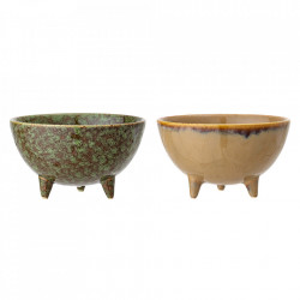 Set 2 ghivece multicolore din ceramica 7 cm Sonas Bloomingville