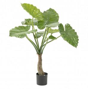 Set 2 plante artificiale in ghiveci din plastic 85 cm Flower Alocasias La Forma