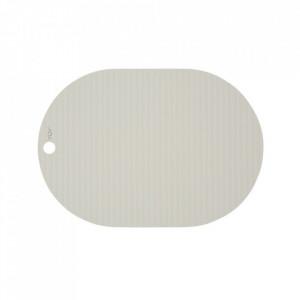 Set 2 protectii masa ovale alb antic din silicon 33x46 cm Ribbo Oyoy