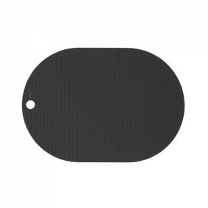 Set 2 protectii masa ovale negre din silicon 33x46 cm Ribbo Oyoy