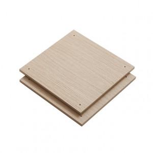 Set 2 rafturi maro din lemn de stejar Elevate A Woud