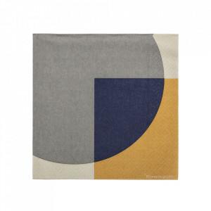 Set 20 servetele multicolore 33x33 cm Abstract Bloomingville