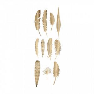 Set 22 decoratiuni maro din hartie Feather Creative Collection