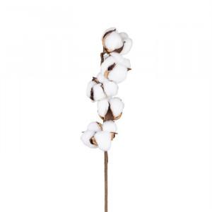 Set 24 plante artificiale albe/maro din plastic si metal 50 cm Cotton Spray Richmond Interiors