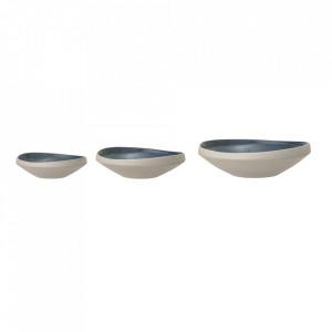 Set 3 boluri multicolore din ceramica Hazel Bloomingville