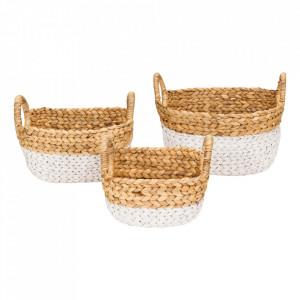 Set 3 cosuri maro/alb din fibre naturale Ty Kids Depot