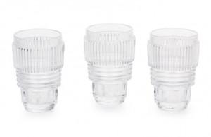 Set 3 pahare transparente din sticla 8,7x13 cm Machine Collection Seletti