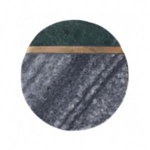 Set 4 coastere gri din marmura si alama Zita LifeStyle Home Collection