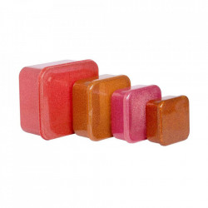 Set 4 cutii pentru pranz multicolore din polietilena Autumn A Little Lovely Company