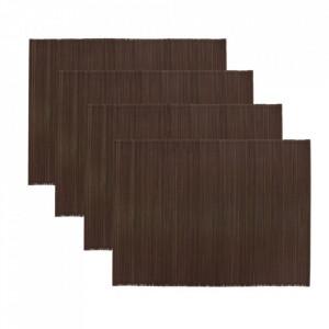 Set 4 protectii masa maro inchis din bambus 33x45 cm Bamb House Doctor