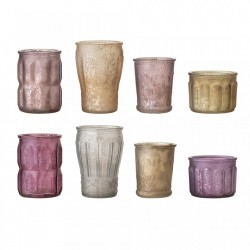 Set 8 vaze multicolore din sticla Votive Bloomingville