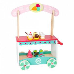Set de joaca 19 piese din placaj si MDF Ice Cream Cart Small Foot