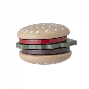 Set de joaca 4 piese din lemn Burger Bloomingville Mini