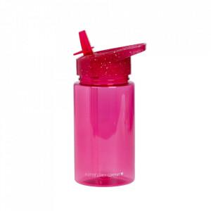 Sticla pentru apa roz din polipropilena 450 ml Glitter A Little Lovely Company