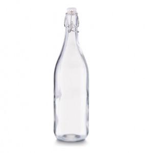 Sticla transparenta cu dop 1000 ml Glass Bottle Zeller