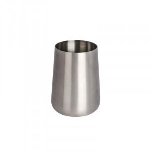 Suport argintiu din inox pentru periuta dinti 8x10 cm Solid Wenko