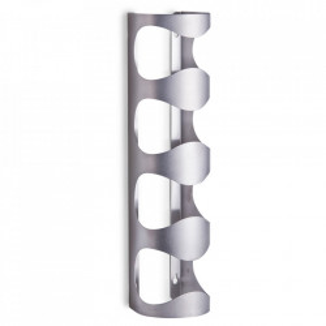 Suport argintiu din inox pentru sticle Wall Cage Zeller