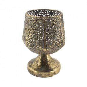 Suport auriu din alama pentru lumanare 14 cm Betos Santiago Pons