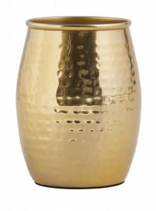 Suport auriu din inox 9x10 cm pentru periuta dinti Hammered Tumbler Nordal