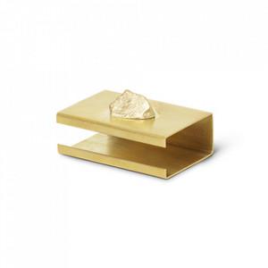 Suport din alama pentru cutia de chibrituri Stone Brass Ferm Living