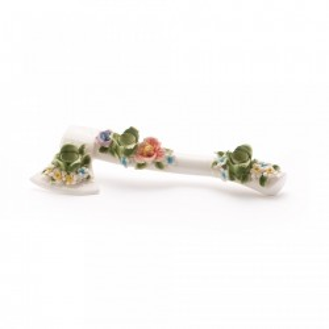 Suport din portelan pentru lumanari 37X14 cm Flower Attitude The Axe Seletti