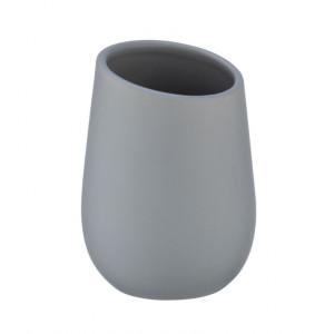 Suport gri din ceramica pentru periuta dinti 8x11 cm Badi Wenko