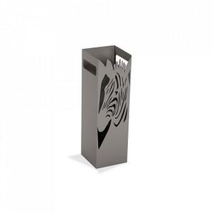 Suport gri din metal pentru umbrela 49 cm Zebra Grey Versa Home
