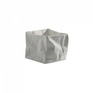 Suport lumanare alb din portelan 8 cm Paperbag Serax