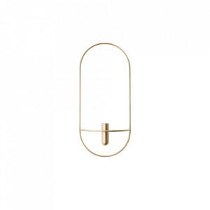 Suport lumanare auriu din alama 44 cm POV Oval Brass Menu