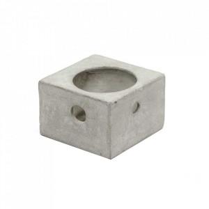 Suport lumanare gri din beton 8 cm Le Petit Photophore Serax