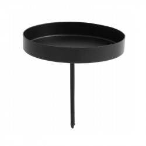 Suport lumanare negru din fier 7,5 cm Sekken Nordal