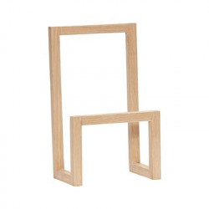 Suport maro din lemn pentru reviste Cristiana Hubsch