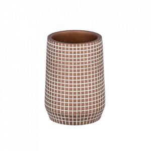 Suport maro din polirasina pentru periuta dinti 7x10 cm Ohrid Bronze Wenko