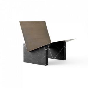 Suport negru/aramiu din marmura si alama pentru reviste Monuments Menu