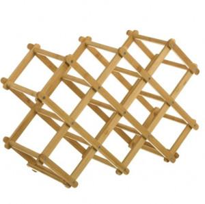 Suport pliabil maro pentru sticle din lemn de bambus Tammy Unimasa