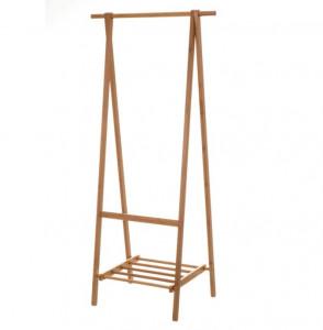 Suport pliabil maro pentru umerase din lemn de bambus 158,5 cm Diaz Unimasa