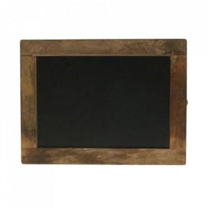 Tabla de scris neagra/maro din lemn reciclat 30x40 cm Havana Raw Materials