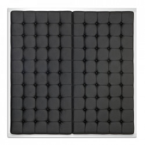 Tablie pat neagra din PVC si inox 180 cm Shangri-La Eichholtz