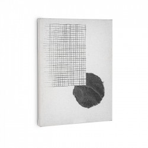 Tablou alb din lemn si hartie 30x40 Small Prism La Forma