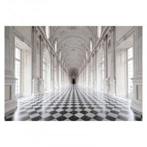Tablou alb/negru din sticla 80x120 cm Corridor Signal Meble