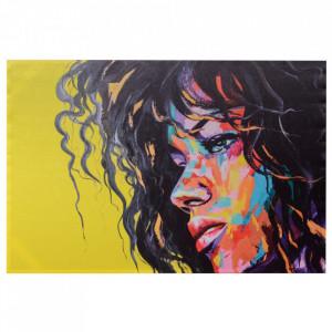 Tablou multicolor din canvas si lemn 80x120 cm Other Woman Ixia