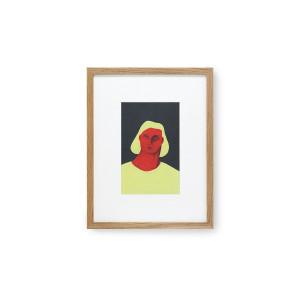 Tablou multicolor din lemn si sticla 36,5x46 cm Pauline Blanchard HK Living