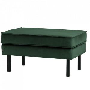 Taburet dreptunghiular verde padure din catifea pentru picioare 54x84 cm Rodeo Be Pure Home