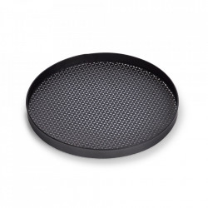 Tava decorativa rotunda neagra din metal 35,2 cm Ilomilo Tray Zeller