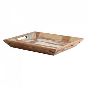 Tava dreptunghiulara multicolora din lemn 36x40 cm Cassana Raw Materials