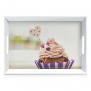 Tava dreptunghiulara multicolora din melamina 35x50 cm Cupcake Zeller