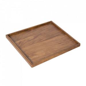 Tava patrata maro din lemn 50x50 cm Makassar Invicta Interior